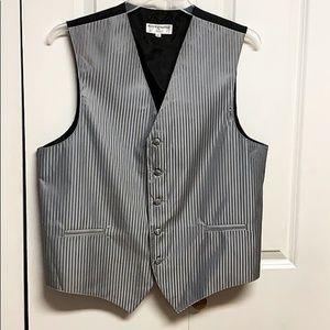 Vesuvio Napoli Formal Vest Size L Gray & Black